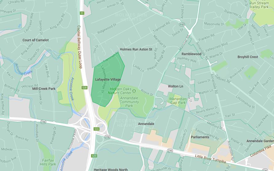 Lafayette Village Map